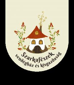Szarkafészek logo-pajzs